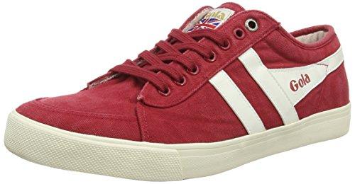 Gola Comet, Zapatillas para Hombre Rojo (Red/Off White)