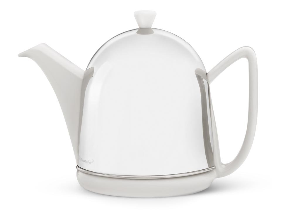 bredemeijer Cosy Manto Teapot, 1.0-Liter, Ceramic Spring White with Insulated Shell