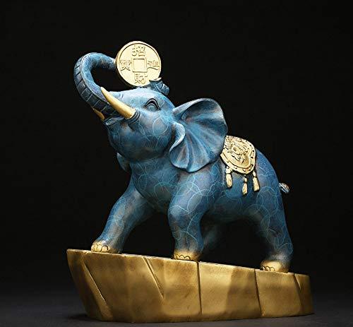 DUDU Feng Shui Elefante Estatua Fortuna Suerte Estatua Oficina Hogar Decoración Escultura Regalo,Red