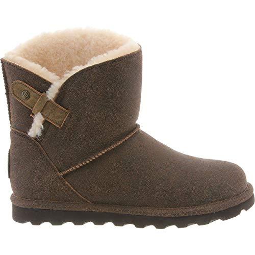 (BEARPAW Women's Margaery Fashion Boot, Chestnut Distressed, 6 M US )
