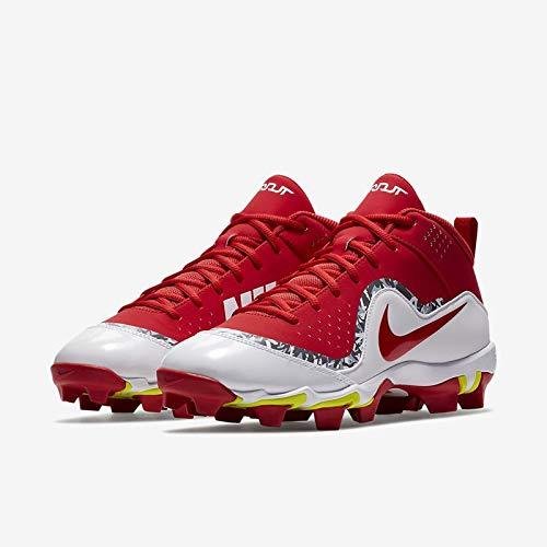 Nike Men's Force Trout 4 Keystone Baseball Cleats (12 M US, University Red/White)