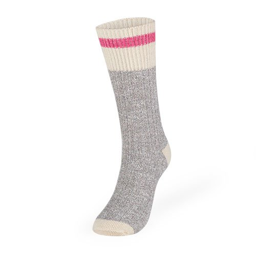 Women's Kodiak Hiking Socks 2 Pack: Natural Gray/Rose, Size 4-10