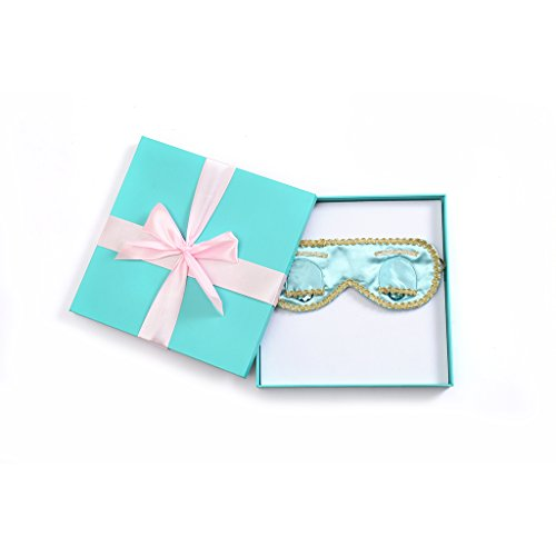 Gift Boxed Audrey Hepburn Breakfast at Tiffany's Sleep Mask Silk (Tiffany Turquoise) -