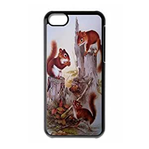 UNI-BEE PHONE CASE For Iphone 5c -Animal Squirrel-CASE-STYLE 2