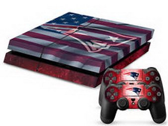 uper18 game® England Patriots Sticker Skin For Playstation 4 Console+Controllers ()