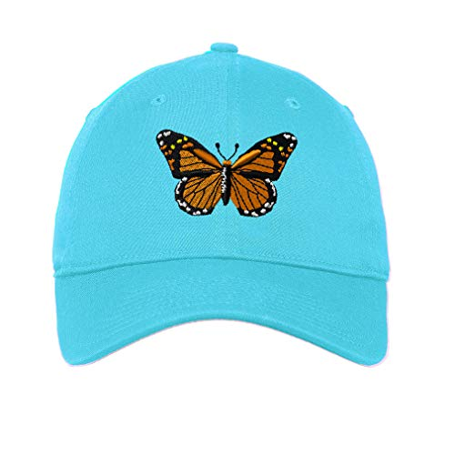 LowProfileSoft Hat Monarch Butterfly Embroidery Design Cotton Dad Hat Flat Solid Buckle Aqua Design Only