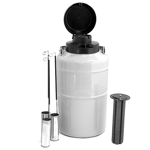 HFS 2 L Cryogenic Container Liquid Nitrogen Ln2 Tank Dewar with Straps and Carry Bag