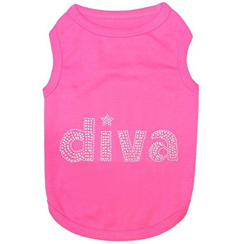 Diva Dog Tee (DIVA ♦ Embroidered Pet Dog Shirt ♦ All Sizes (Large))