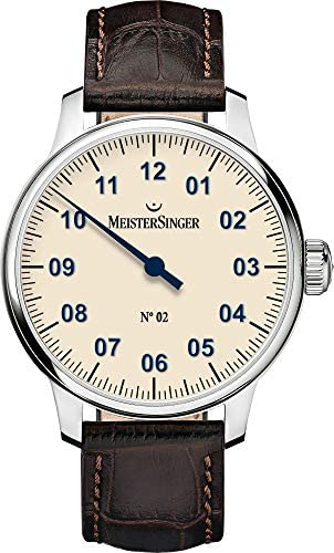 MeisterSinger Mens Classic No. 2 Hand Wound Ivory AM6603N