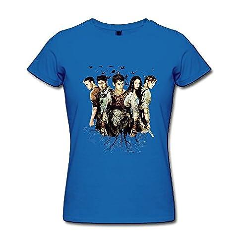 FHY Women's Maze Runner £ºthe Scorch Triais T-shirts X-Large RoyalBlue (The Maze Runner T Shirt Girls)