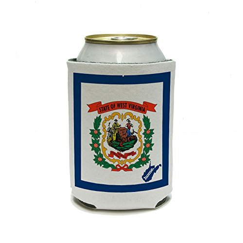 West Virginia WV Home State Can Cooler Drink Insulated Holder - Flag