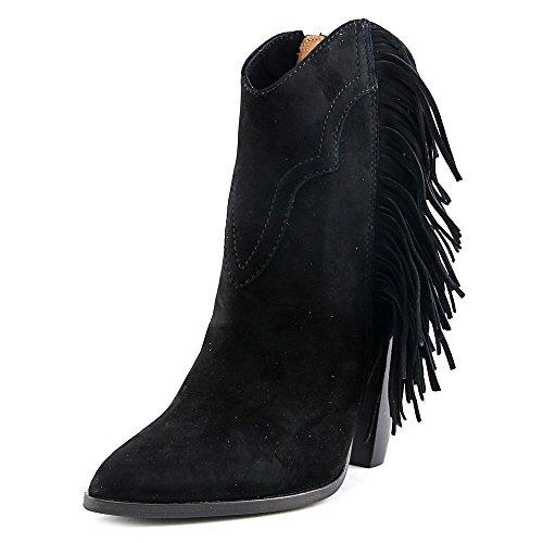 Image of FRYE Women's Remy Fringe Short Boot, Black, 9 M US