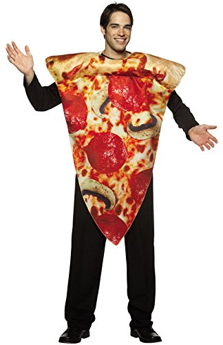 Men's Pizza Costume (Pizza Slice Costume - One Size - Chest Size 48-52)