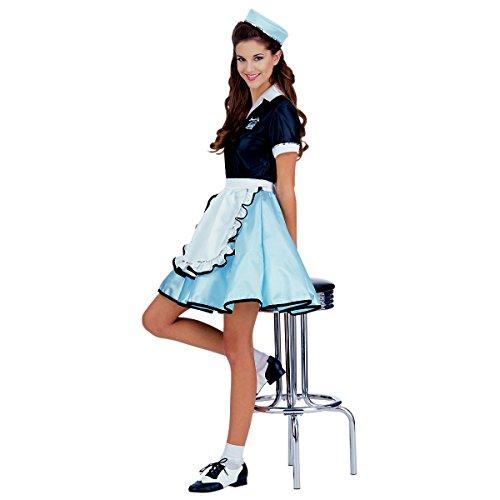 Car Hop Girl Costume - Standard - Dress Size (Car Hop Girl Adult Costumes)