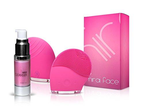 Mirai Anti-Aging Cleansing Cream+ Facial Cleansing Brush- Deluxe Anti-Aging Skin (Youthful Smile Duo)