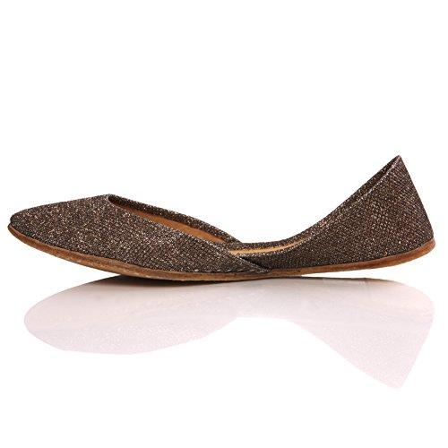 Day Shoes Unze Brown Womens Elegante Slipons 'Anin' Planos Pumps XAaq4w