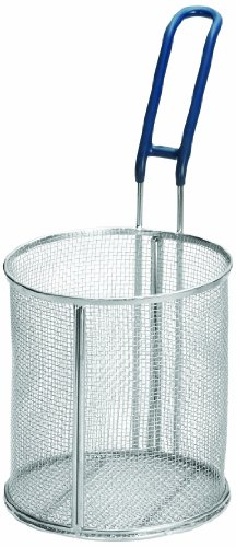 Tablecraft 986 Round Pasta Basket, 6-1/2 by 7-Inch, Stainless (Round Pasta Basket)