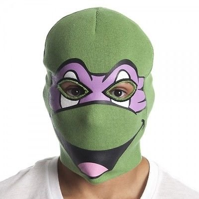 Teenage Mutant Ninja Turtles Donatello Face Mask Winter Ski Balaclava Knit Beanie Hat TMNT (Ninja Turtles Face)