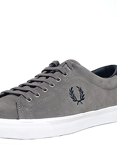 Fred Perry Underspin Suede Falcon Grey B9091C53, Basket