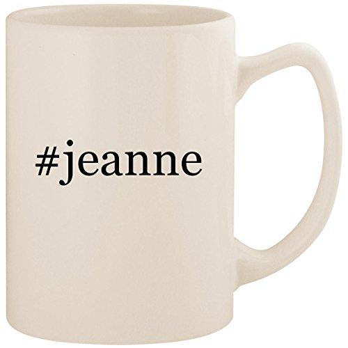 #jeanne - White Hashtag 14oz Ceramic Statesman Coffee Mug Cup - Jeanne Darc Roses