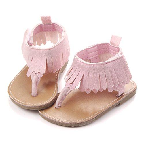Dooxi Bebé Niña Verano Casual Sandalias Moda Borla Princesa Zapatos Pink