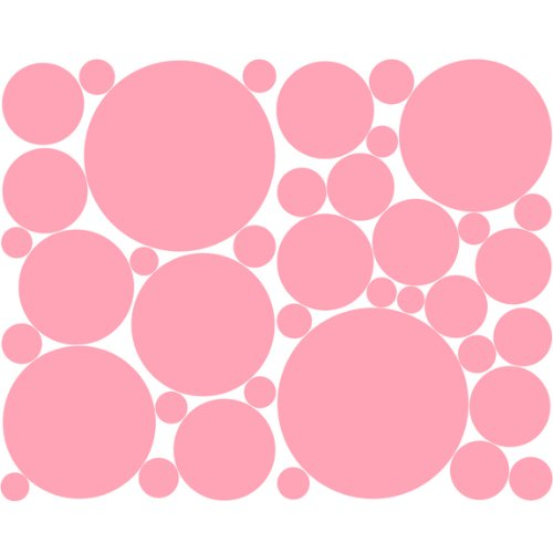 Instant Murals Pale Pink Polka Dots Wall Stickers Dorm Nursery Decor