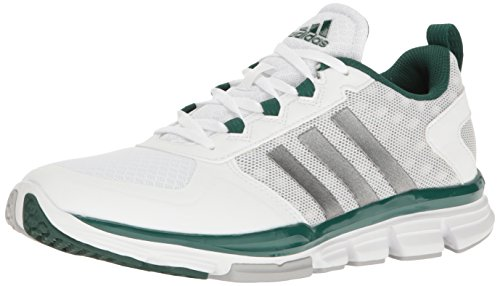 Adidas Performance Speed â??â??Trainer 2 Formación de zapatos, Negro / carbono metalizado / Oro col White/Carbon Metallic/Collegiate Green