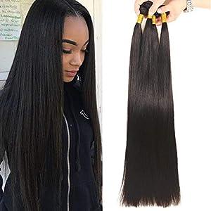 NEWNESS Brazilian Long Straight Hair 6 Bundles 38 38 38 40 40 40 Inch 10A Unprocessed Brazilian Virgin Hair Straight…