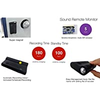 KingNeed flashlight Digital Audio Voice Recorder/ Voice Activated/ Strong Magnet/ 180 Working hours/ Under Driver Seat as Car Audio Black Box