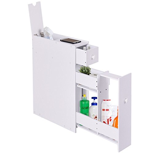 LordBee New White Bathroom Cabinet Space Saver Storage Organizer MDF Small Size Stylish Modern Nice Chic Decor Furniture Home Towels Shampoo Bottles by LordBee (Image #3)