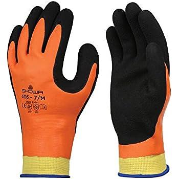 Showa 406 Insulated Latex Foam Grip Gloves Water
