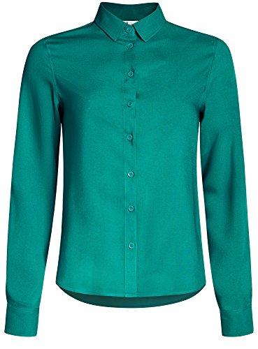 Blusa Ultra 6d00n Oodji Básica Viscosa De Verde Mujer UqngF8wB