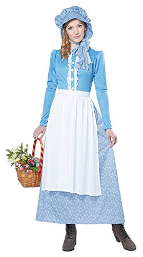 California Costumes Women's Pioneer Woman, Blue/White, Medium - stylishcombatboots.com