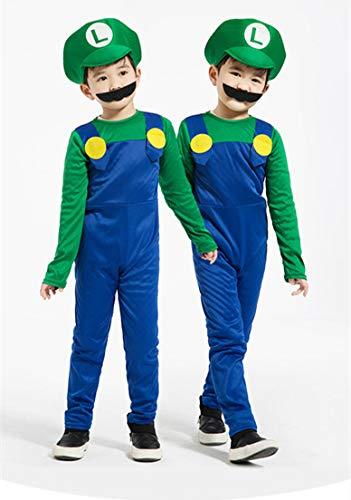 WSJDE Cosplay Adultos y Super Mario Bros Cosplay Traje de Baile ...