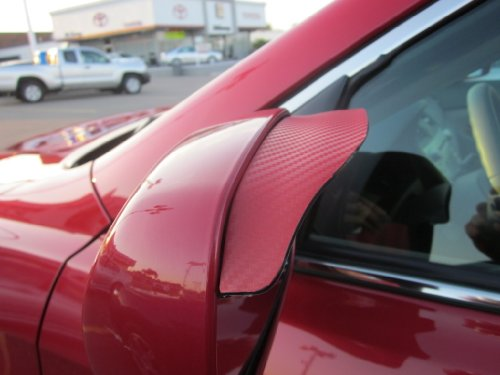 1991-1997 MAZDA MX-6 RED CARBON FIBER SIDE MIRROR VISOR RAIN GUARDS 2 PC 1992 1993 1994 1995 1996 91 92 93 94 95 96 97