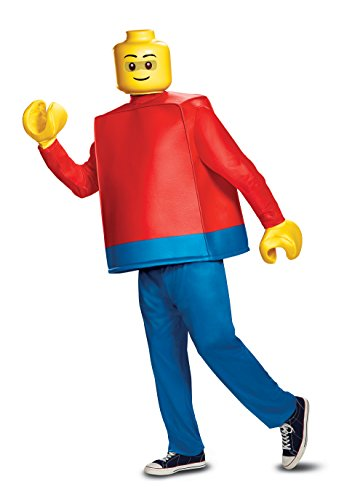 Disguise Men's Lego Guy Deluxe Adult Costume, Aqua, One Size