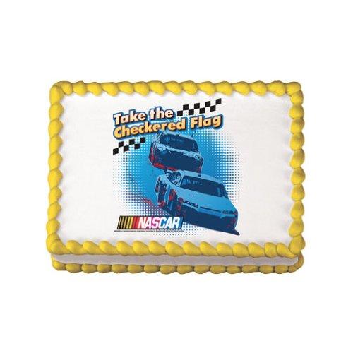 Nascar Checkered Flag Edible Cake Topper -