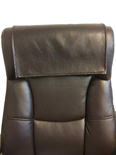 LUVFABRICS Furniture Protector, Recliner, Head Rest, Sofa, Love seat, Leather Protector, Computer Chair, Couch, Faux Leather Vinyl, Suede Backing (Dark Brown Ford, 18 x 20 (1 Piece))