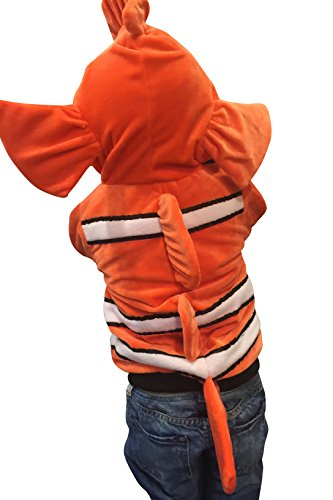 ComfyCamper Clownfish Costume Animal Play Sweatshirt Hoodie Boys/Girls, 4-6 -