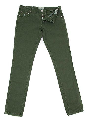 new-luigi-borrelli-green-solid-pants-super-slim-38-54