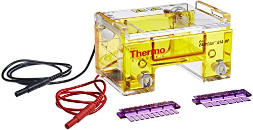 - Thermo Fisher Owl B1A-BP EasyCast Horizontal Mini Gel Electrophoresis System with Buffer Exchange Ports, 8cm L x 7cm W Gel Size