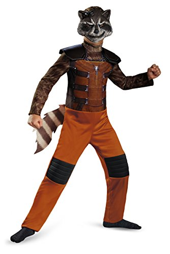 Party Boy Houston Halloween Costumes (Disguise Marvel Guardians of The Galaxy Rocket Raccoon Classic Boys Costume,)
