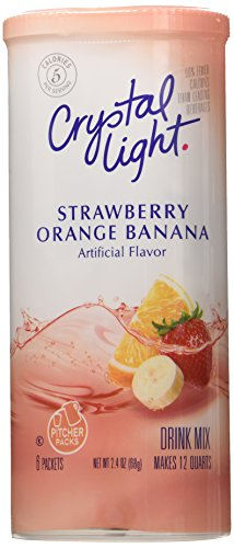 Crystal Light Strawberry Orange Banana Drink Mix (12-Quart), 2.4 Ounce Canisters (Pack of 12) (Crystal Light Strawberry Banana)