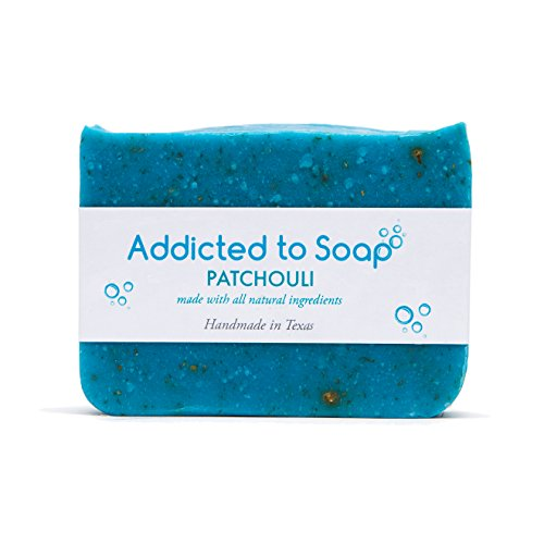 Addicted to Soap - Pine Tar Soap | Mens Soap Bar - Black Soap with Natural Organic Olive & Coconut Oils - Best Soap for Men Guaranteed Handmade in Texas Body Hand Soap Bar (Patchouli Soap)