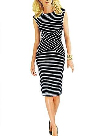 Viwenni® Women&39s Summer Striped Sleeveless Wear to Work Casual ...