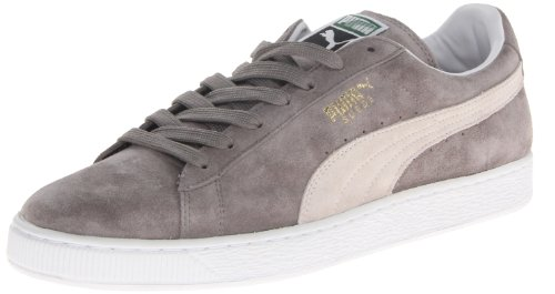 PUMA Suede Classic SneakerSteeple GrayWhite14 M US Mens