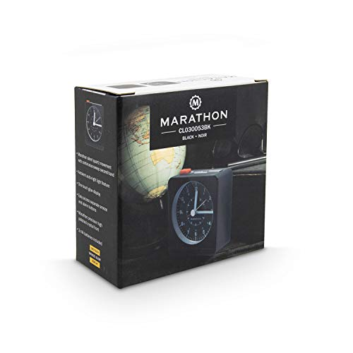 Marathon Silent Alarm Clock with Auto Back Repeating Snooze. SKU-CL030053BK