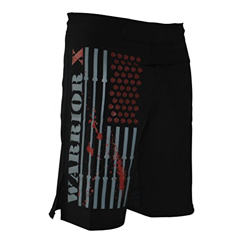 WarriorXGear WOD OCR MMA Shorts (Black, 36)