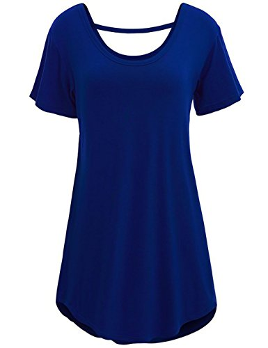 LemonGirl Women's Round Neck Straps Blouse T-Shirt Tops