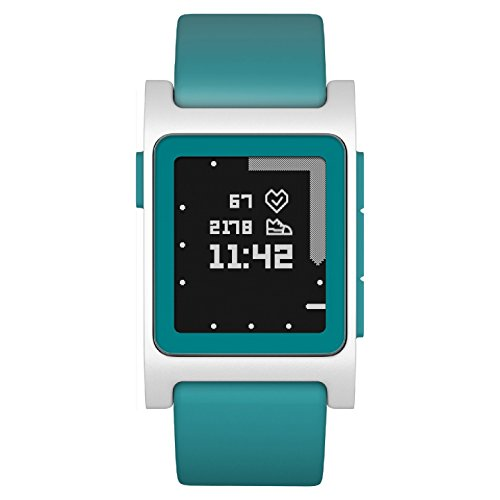 Pebble 2  Heart Rate Smart Watch- AquaWhite